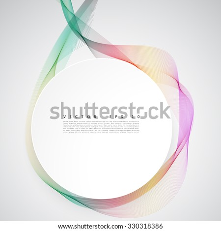 Abstract colorful background. Vector color smoke line. - stock vector