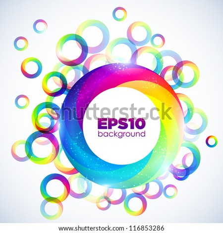 Abstract colorful background. Vector illustration - stock vector