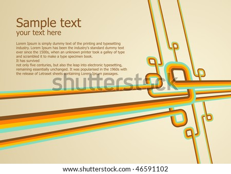 Abstract colorful background. Vector illustration. Clean design templete. - stock vector