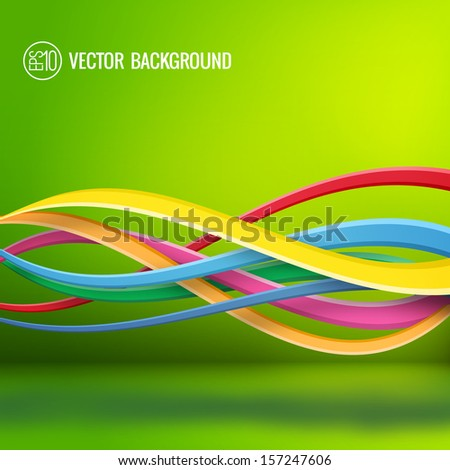 Abstract colorful background. Vector Illustration, eps10, contains transparencies. - stock vector