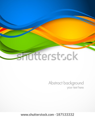 Abstract colorful background. Wavy illustration. Design for Brazil soccer  championship - stock vector
