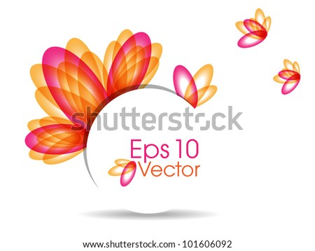 Abstract colorful  background with beautiful petals for text project used and copy space, isolated on white. EPS 10, vector illustration. - stock vector