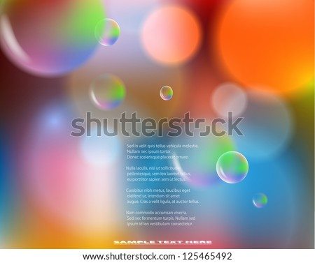 Abstract colorful background with bubbles. EPS10 vector illustration. - stock vector