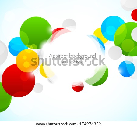 Abstract colorful background with circles - stock vector