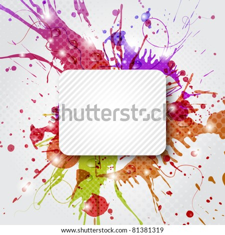 Abstract colorful background with copy space - stock vector