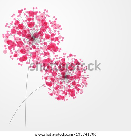 Abstract colorful background with flowers. Vector illustration - stock vector