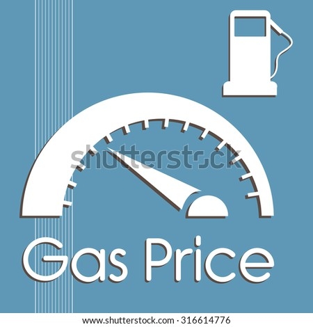 Abstract colorful background with gas pump and gas price counter