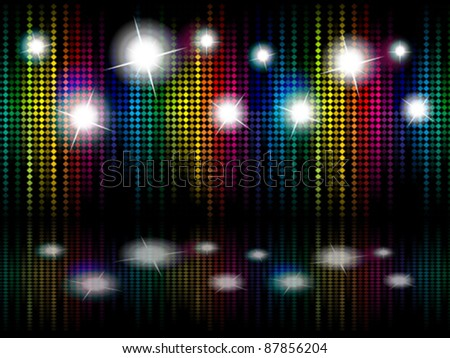 abstract colorful background with magic box vector illustration