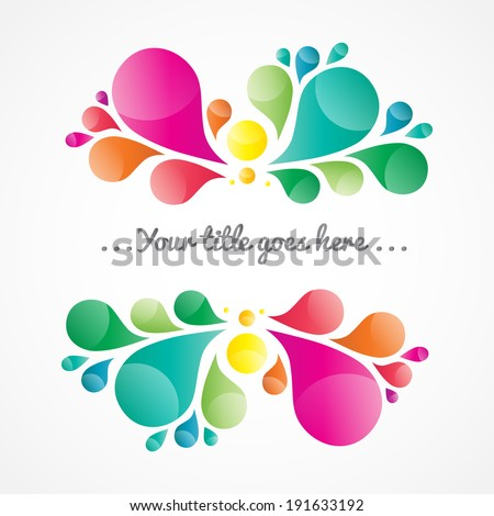 Abstract colorful background with place for your text, drop element - stock vector