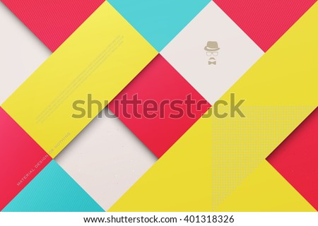 abstract, colorful background with square frames. vector geometric, fashion wallpaper template. material design backdrop. origami style, vector, business cards layout - stock vector