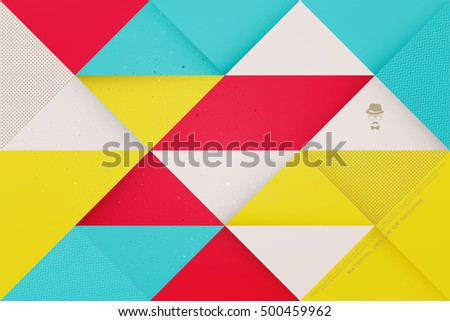 Abstract Colorful Background With Triangular Frames Vector Geometric Fashion Wallpaper Template Material