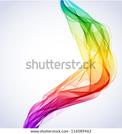 Abstract colorful background with wave for design, vector