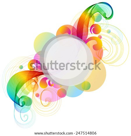 Abstract colorful background with wave, illustration - stock vector