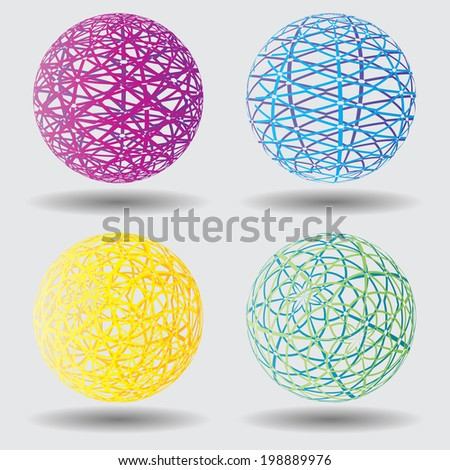 Abstract colorful balls