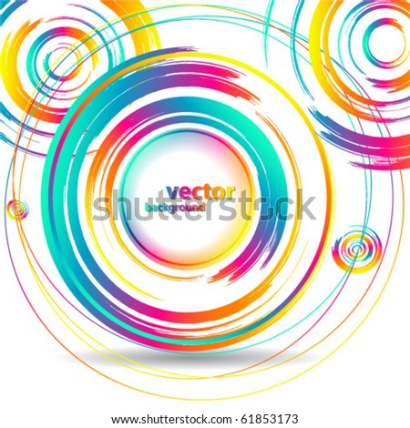 Abstract Colorful banner - stock vector