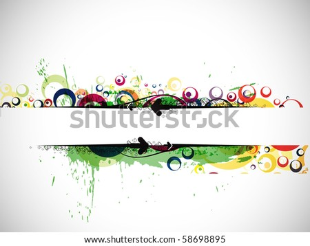 Abstract colorful banner background with space of your text. eps10 Vector illustration. - stock vector