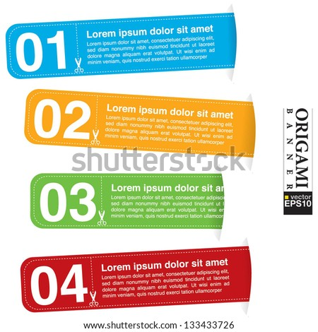 Abstract colorful banner vector.EPS10 - stock vector