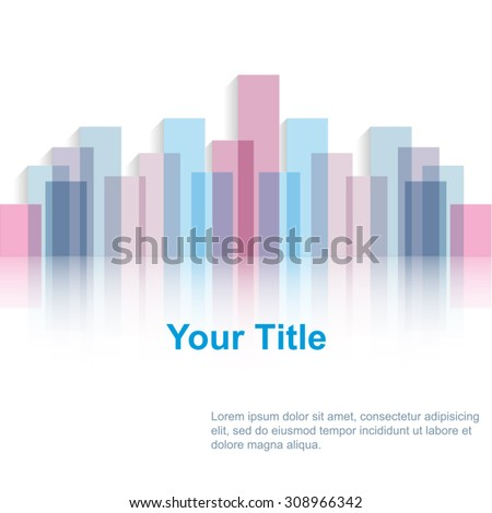 Abstract Colorful Bars Background With Reflection and Place for Text EPS 10 Vector