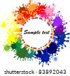 Abstract colorful blots background. Vector. - stock photo
