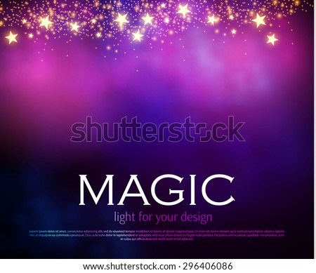 Abstract colorful blur background. Magic design. Dark mobile template. Vector illustration - stock vector