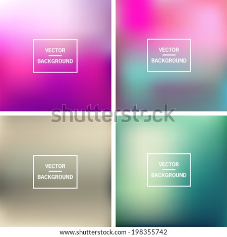 Abstract colorful blurred vector backgrounds. Vector timeline template.   - stock vector