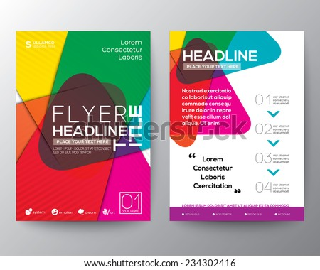 Abstract colorful Brochure Flyer design Layout vector template in A4 size - stock vector