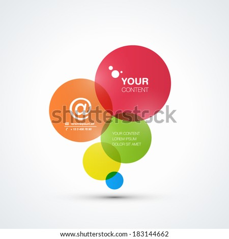 Abstract colorful bubbles background with your text - stock vector