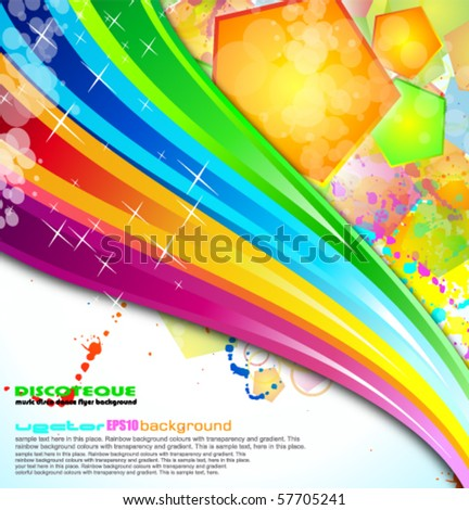Abstract Colorful Business Background for Fliers
