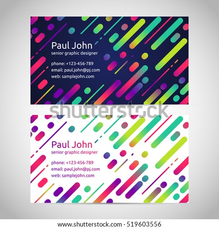 Abstract colorful business cards, vector illustration