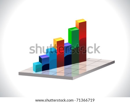 abstract colorful business chart vector illustration