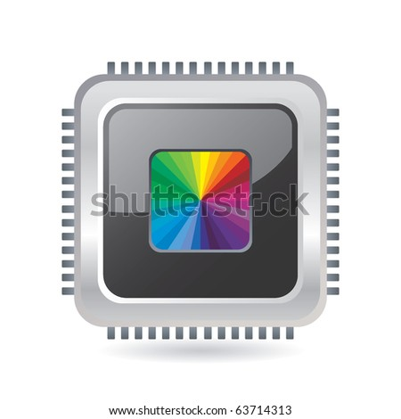 Abstract colorful chip - stock vector
