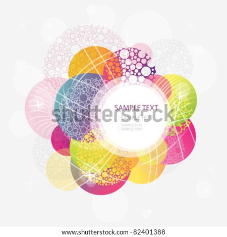 Abstract colorful circle background. 10 eps - stock vector