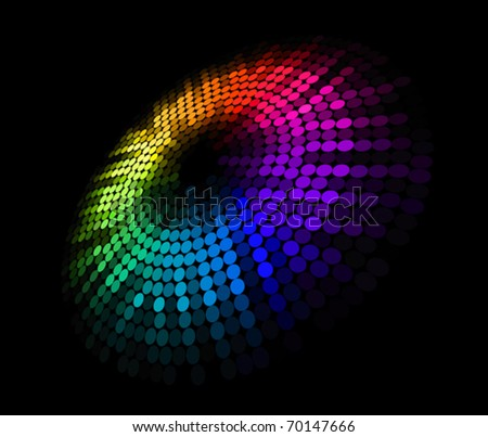 Abstract colorful circle background for futuristic design. Jpeg version also available in gallery - stock vector