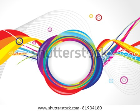 abstract colorful circle wave template vector illustration
