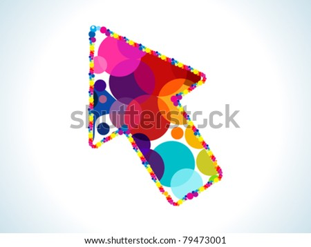 abstract colorful circles based cursor vector illustration - stock vector