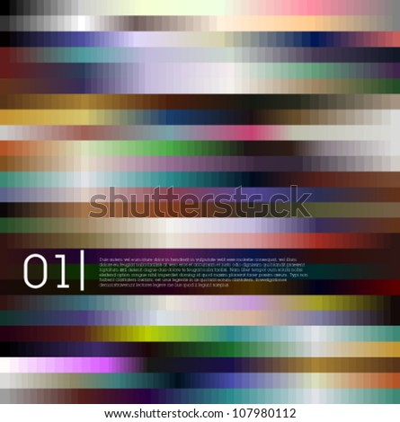 Abstract colorful design for graphic or web design / can be used for infographics or web banners - stock vector