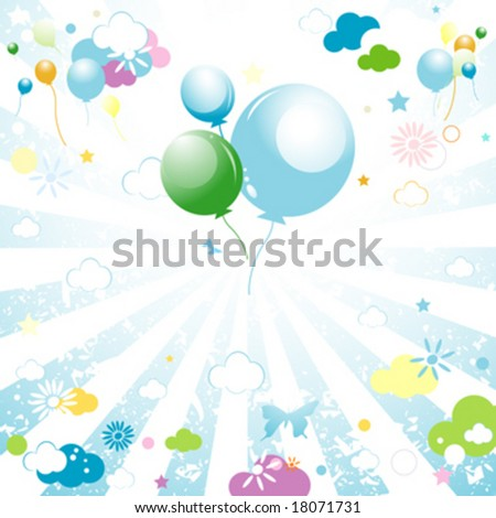 abstract colorful design for kids - stock vector