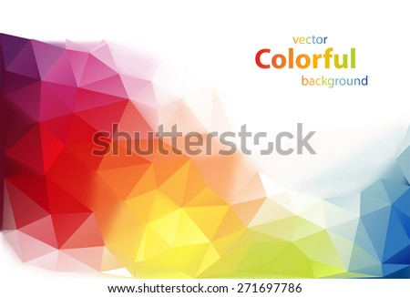 Abstract colorful diamond shaped vector background - stock vector