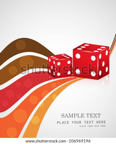 abstract colorful dices reflection wave vector design - stock vector