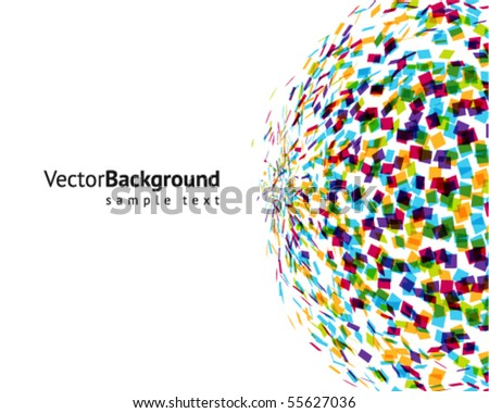 Abstract colorful explore vector background
