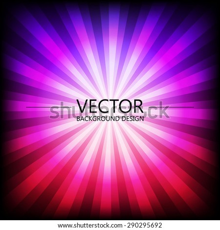 Abstract colorful explosion design, Purple and pink color, Modern disco lights background. - stock vector