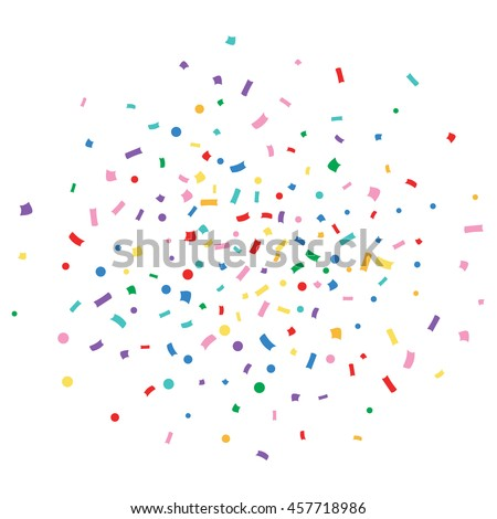 Abstract colorful explosion of confetti vector isolated on a white background. Vector illustration. Flat design element - stock vector