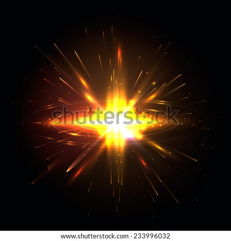 Abstract colorful explosion. Vector illustration, eps 10. - stock vector