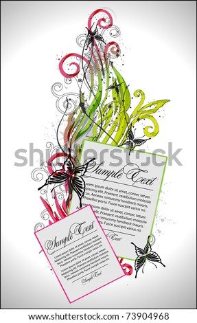 abstract colorful floral - stock vector