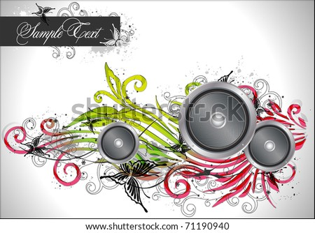 abstract colorful floral background - stock vector