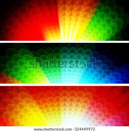 Abstract colorful floral background & banner, vector illustration.
