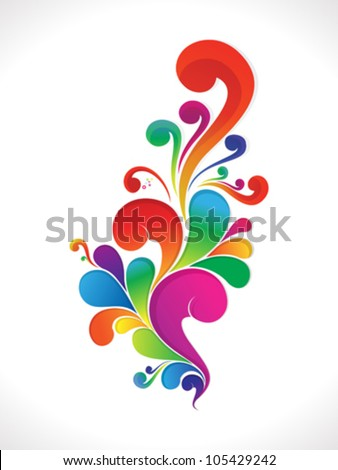 abstract colorful floral background vector illustration - stock vector
