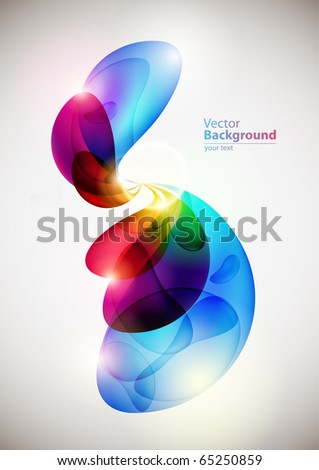Abstract colorful forms - stock vector