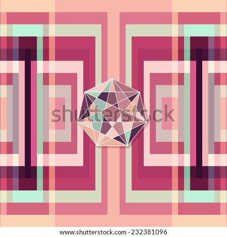 Abstract colorful geometric background. Cover design template for brochure, flyer. Vector illustration. Editable.