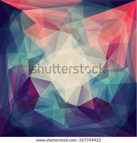 Abstract colorful geometric background - eps10 - stock vector